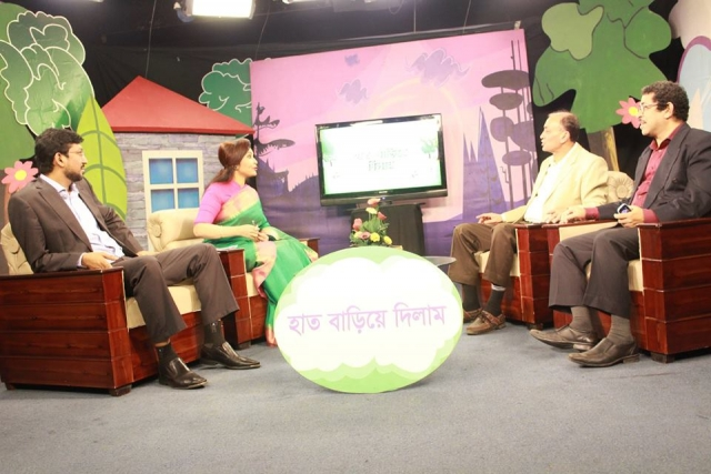 "The chairman of CMED Dr. Khondaker Abdullah Al Mamun at ""হাত বাড়িয়ে দিলাম"" Tv show"